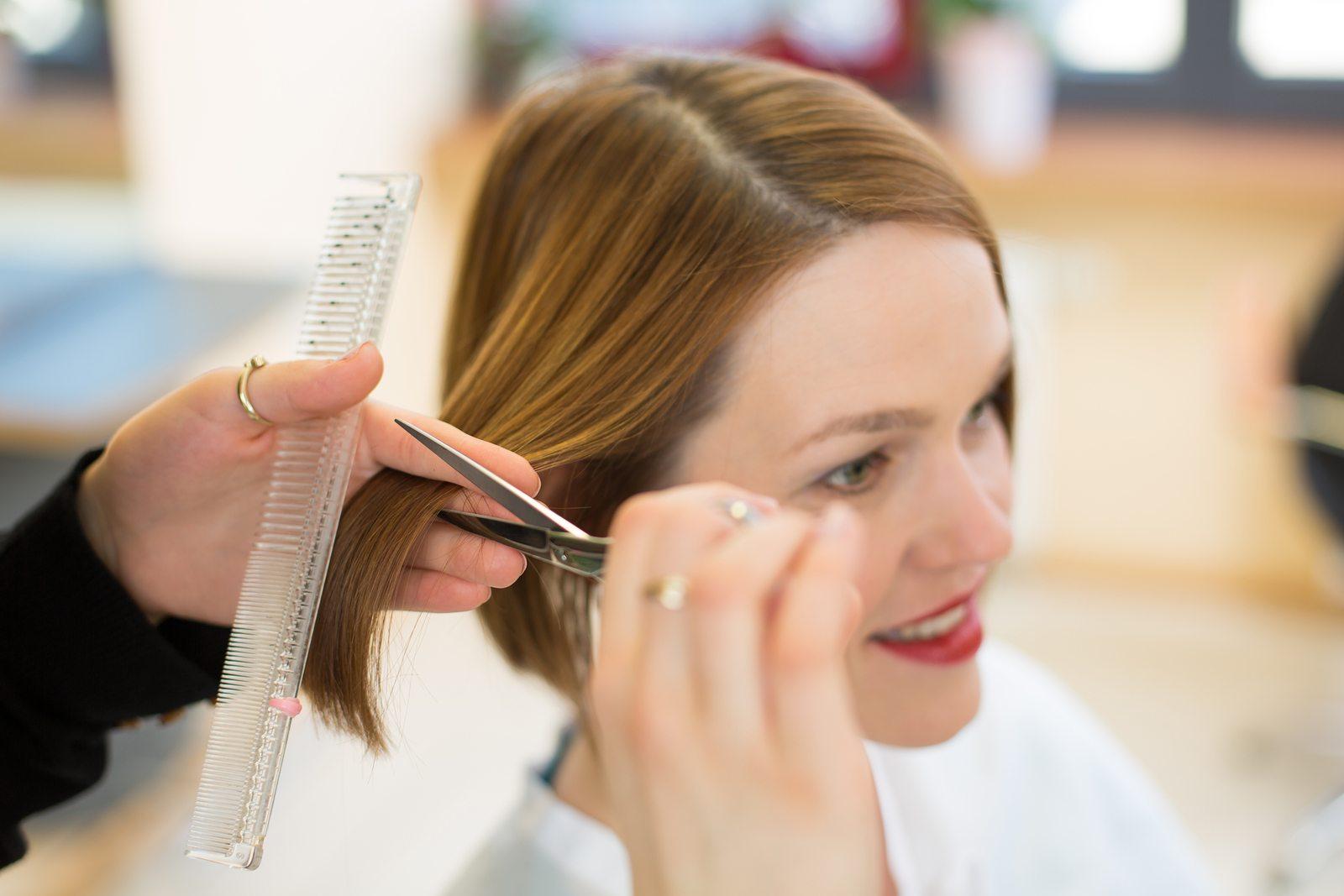 Hair Cutting Pics : Cutting Hair Hairdressers cutting hair