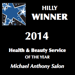 "Michael Anthony Salon Best Health and Beauty Service 2014"" width="