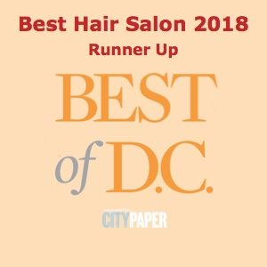 "Michael Anthony Salon Best Hair Salon 2018 Runner Up"" width="
