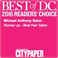 "Michael Anthony Salon Best Hair Salon 2016 Runner Up"" width="