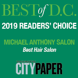 "Michael Anthony Salon Best Hair Salon 2019"" width="